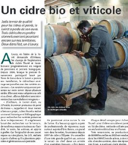 Julien Thurel Article Terres de Loire Juin 2017